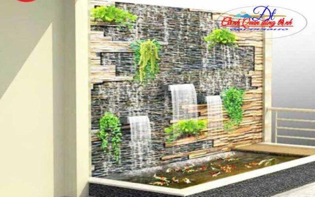 Thác nước chảy trên tường đẹp
