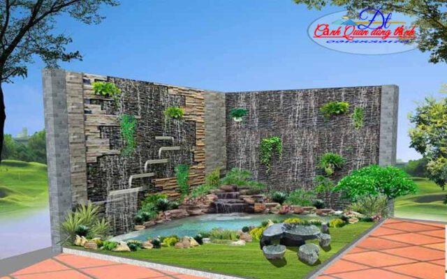thiết kế thi công tường nước tại Vũng Tàu