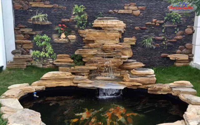 hồ cá koi sân vườn đẹp - 2